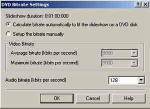 32 DVD Bitrates settings-