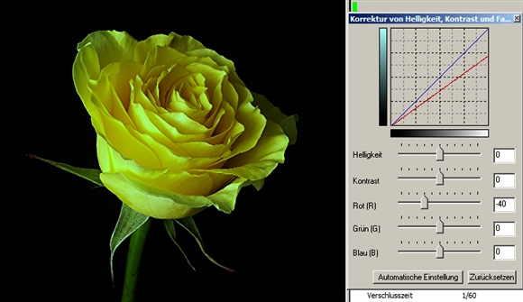 32 rose roter Kanal minus-