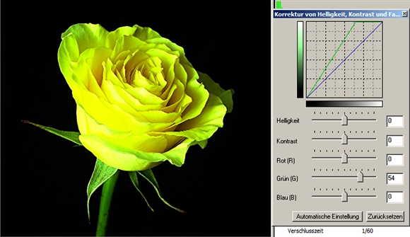 34 rose grüner Kanal minus-